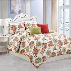 Apartment AH Walker 5-Piece Comforter Set, Red