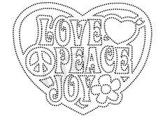 hart love peace joy