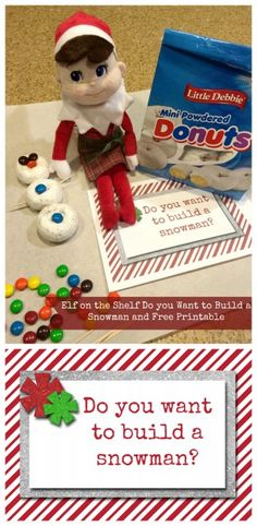 Christmas Elf on the Shelf Ideas and Free Printables
