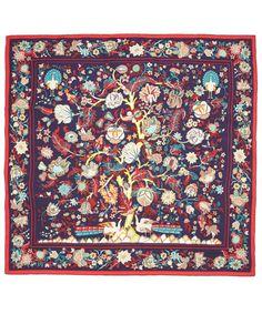 Liberty of London - Navy Tree of Life Print Silk Scarf