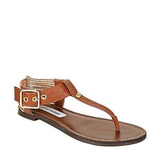 Steve Madden Serenite in cognac Crazy Shoes, New Shoes, Me Too Shoes, Cute Sandals, Brown Sandals, Stylish Sandals, Brown Flats, Comfortable Sandals, Flat Sandals