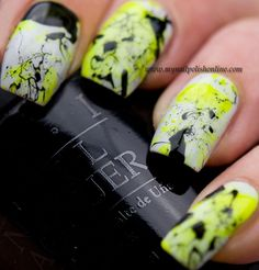 Great splatter mani.  Too bad they are soooo messy, because they are lovely.