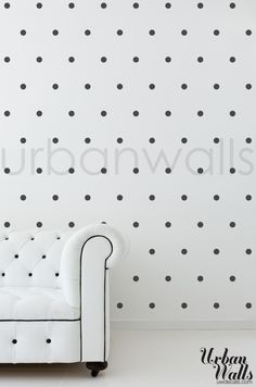 A little something, not too much, for an accent wall in a small house:   (http://www.uwdecals.com/products/small-polka-dots.html)