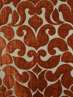 OKUMOTO B6489 #orange-rust #patterns #woven-fabrics