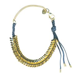 Giles + Brother {gold braided hex nut necklace}