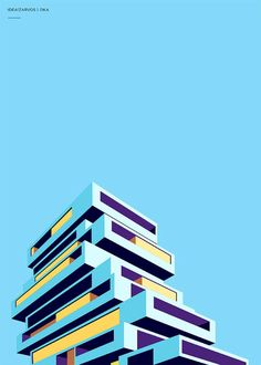 "Brazilian art director and graphic designer Henrique Folster created this great minimalist series of architectural illustrations for Idea!Zarvos, an architecture and construction company specializing in ""buildings with a unique personality"". More illustrations via We and the color"
