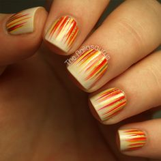 The Nailasaurus: Fiery Waterfall -- So cool! Might do this when I go see Catching Fire!!!!!