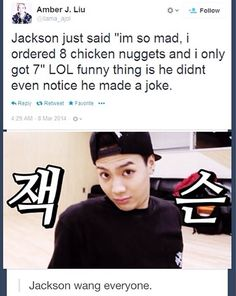 Haha as expected of the Wild n Sexy Wang Jackson!