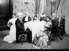 Mark Twain's birthday dinner at Delmonico's, New York, circa 1900. Twain coiner of the phrase 'The Gilded Age', at a Gilded Age Restaurant, Delmonico's towards the end of the Gilded Age era c.1900, for his 70th Birthday!