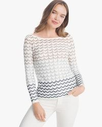 Zigzag Boat Neck Sweater