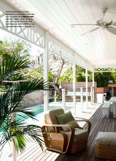 #verandah #cane funiture #swimming pool #ceiling fan