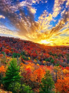 Fall Sunset in Highlands, North Carolina - kevinandamanda