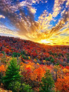 Fall Sunset in Highlands, North Carolina - kevinandamanda