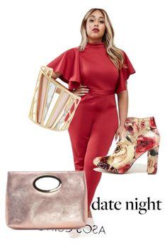 """date night"" by stilmarija on Polyvore featuring ASOS Curve, Liliana, Donald J Pliner and Alexis Bittar"