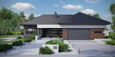 House Layout Plans, House Layouts, Beautiful House Plans, Beautiful Homes, House Plans Mansion, Flat Roof House, Modern Villa Design, Architectural House Plans, Modern Bungalow