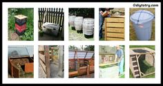 Learn to enhance your house yard with these amazing 10 DIY Compost Bins Ideas. Check out our website, get the needed tools and get creative! Greenhouse Effect, House Yard, Lets Play, Compost, Creative, Diy, Tutorials, Ideas, Bricolage