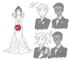 Marinette and Adrien's wedding >.< *blushing intensifies*