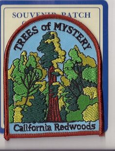 Souvenir Patch Trees of Mystery California Redwoods | eBay