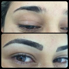 Micropigmentação fio a fio / Before and after permanent makeup by Damiana Gomes-2015