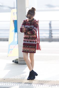 [151027] Tiffany at Incheon Airport Heading To Shanghai