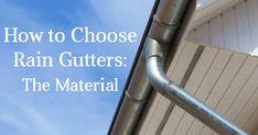 How to Choose Rain Gutters: The Material Rain, Rain Fall, Waterfall, Rain Photography