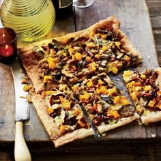 Mushroom, Butternut Squash & Gruyere Tart | An impressive fall appetizer that embraces the flavors of the season.