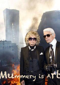 Gabriele Henkel und Karl Lagerfeld - Mummery is Art
