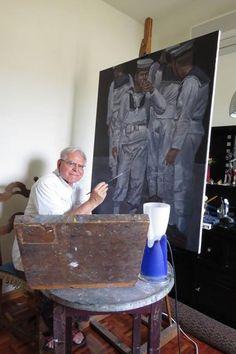 Τον Ανδρέα Καραγιάν , τον έχω πρωτοσυναντήσει μέσα από τις εικόνες του. Η ζωγραφική του είναι ονειρική και απειχεί αισθησιασμό και χαρά.