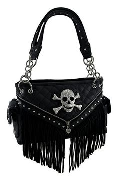 Las Conceal And Carry Skull Purses Handbags For Bikers