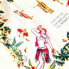 Cute Hawaii map cotton tea towel, $12.50