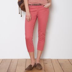 Roots - Twiggy Cropped Pant in Coral
