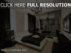 perpaduan warna cat kamar tidur hitam putih