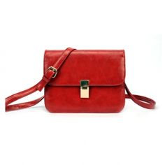 Casual PU Women's Shoulder Bag With Solid Color and Buckle Design