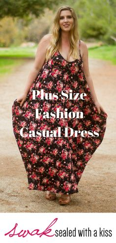 Plus Size Fashion Casual Dress. A plus size bohemian style vintage pink rose printed, flowy, oversized-fit dress will keep you comfy all day long. Plus Size Clothing Stores, Plus Size Womens Clothing, Plus Size Fashion, Plus Size Bohemian, Bohemian Style, Plus Size Maxi Dresses, Plus Size Outfits, Pants For Women, Clothes For Women