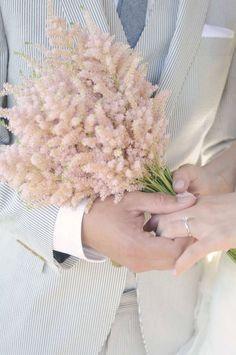 Floral Spotlight: Astilbe via Lovely Little Details Pink Bouquet, Flower Bouquet Wedding, Floral Wedding, Flower Bouquets, Purple Wedding, Wedding Dress, Wedding Events, Our Wedding, Dream Wedding