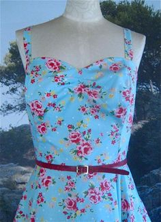 50's Style Circular Skirt Sundress in Garden by TrishFearnClothing, £68.00