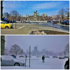 Toronto, 24 hours apart. Reminds me of Wisconsin.
