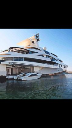 I like the idea of having a place to dock my boat against my yacht. I'll have to remember this when I buiy my yacht. Yacht Design, Super Yachts, Yachting Club, Luxury Sailing Yachts, Luxury Boats, Big Yachts, Private Yacht, Yacht Boat, Speed Boats