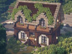 Casa Medieval Minecraft, Minecraft House Plans, Minecraft Mansion, Minecraft House Tutorials, Cute Minecraft Houses, Minecraft House Designs, Minecraft Blueprints, Minecraft Crafts, Minecraft Buildings