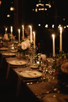 Dark and romantic Table setting