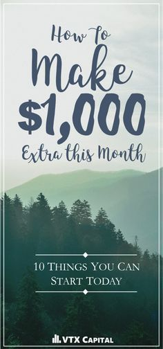 Making extra money from home has never been so easy! Check out these tips and see which ones can help you bring in over $1,000 more each month for your family! |Make Money From Home| Money| Extra Money| Make More Money