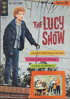 SILVER AGE 1963 THE LUCY SHOW #1 GOLD KEY COMICS LUCILLE BALL PIN-UP BACK COVER!!