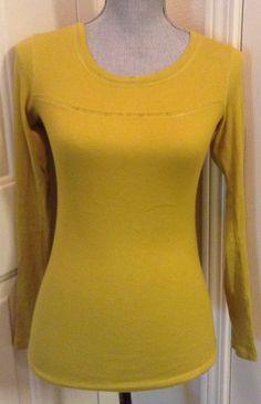 Victoria's Secret Fashions Best Kept Secret Tee Shop Mustard Yellow Shirt Sz XS! | eBay