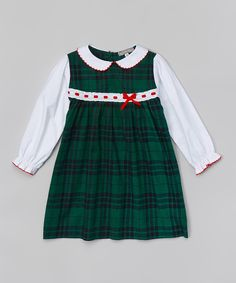 Look at this Green & Navy Plaid Layered Dress - Infant & Toddler on #zulily today!