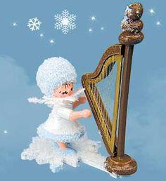Schneeflöckchen mit Harfe 43059