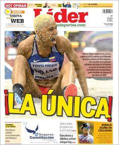 2018-03-04 Portada de Lider en deportes (Venezuela)