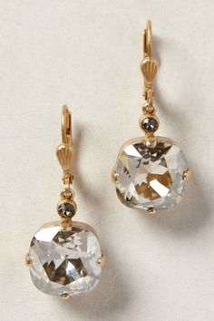 by La Vie Parisienne 14k gold plated brass, Swarovski crystal 0.5″L Handmade in USA Style No. 32778367