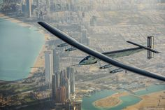 Solar Impulse 2 aircraft, powered only by the sun, successfully took off today from Abu Dhabi, to fly around the world. Images credit Solar Impulse Above: Abu Dhabi, Fly Around The World, Around The Worlds, Solar Energy, Solar Power, Sun Solar, Free Plane, Round The World Trip, Portal