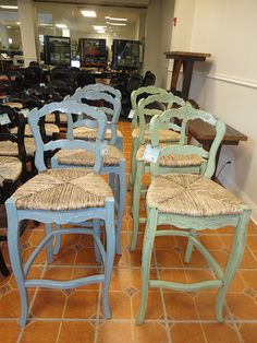 Country French painted mahogany rush seat barstool .discoveriesLA.com & french country bar stools with rush seats | French Provincial ... islam-shia.org