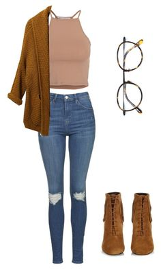 """?"" by viridiana-ponce on Polyvore featuring Topshop, Yves Saint Laurent, NLY Trend and Frency & Mercury"